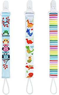 Pacifier Teether Clips Holder for Girl 3 Pack