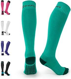 DISUPPO Soccer Socks Knee High Tube Socks Towel Bottom...