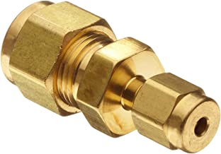 Parker A-Lok 4RU2-B Brass Compression Tube Fitting, Reducing Union, 1/4