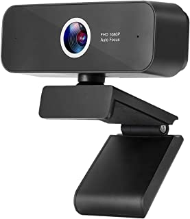 Webcam with Built-in Microphone Autofocus ZUODUN 1080P HD Plug & Play USB Webcam with Privacy Cover for Livestream Gaming ...