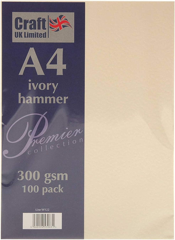 Craft UK Karte Karte Karte A4 ivory weiß, Leinen glatt 100 bis 500 Blatt, 300 gsm (3 Packungen Elfenbeinfarben,) B07FSYHLLH | Sale Outlet  771a40