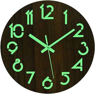 db53e6aa515 Batop Horloge Murale Lumineuse, 30cm Pendule Murale Lumineuse Silencieuses  Fluorescente Horloge Decorative pour Cuisine,
