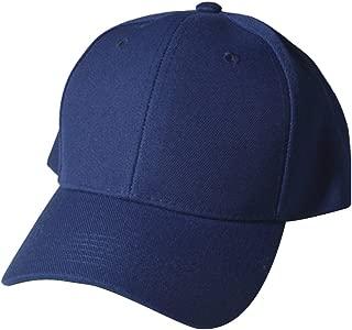 Quality Merchandise Plain Baseball Blank Cap Solid Color Velcro Adjustable