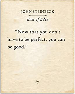 John Steinbeck Quote Friendship Card Single Letterpress Greeting Card Be Good Encouragement Card