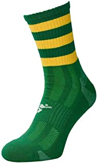 ND Sports, Precision Sports Calcetines Junior Mid Pro Aros Verde/Goldprecision J12-2