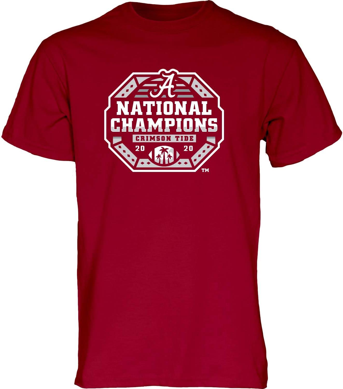 Blue 84 Men's Alabama Crimson Tide National Champs T 2020- Long-awaited Topics on TV Shirt