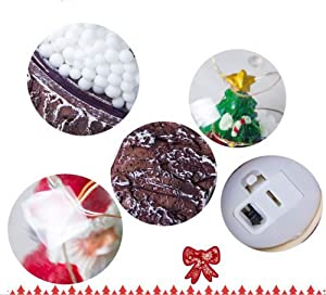 Forart Christmas Snow Globe Night Light Decorative Ornaments Christmas Atmosphere Ornaments Decoration and Gift