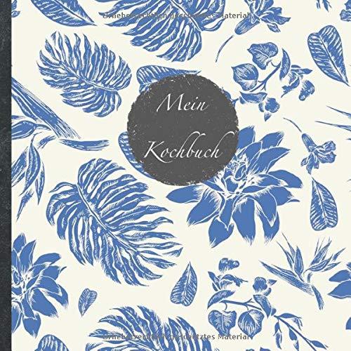 """Mein Kochbuch: blanko Rezeptbuch zum Selberschreiben • Platz für 100 Rezepte • mit Register • Design """"DIY bunte Rezepte"""" • praktisches 21 x 21 cm Soft ... vegan oder zum Grillen • Do it Yourself!"""
