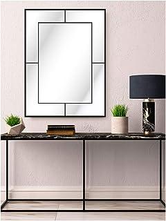 CustomGlass Miroir mural avec décoration personnalisée Modèle industriel droit (80 x 60 cm)