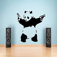 G Direct Grote Banksy Panda Graffiti Muursticker Vinyl Decal Transfer Graphic Bedcamera 55 x 100 Zwart