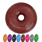 #DoYourFitness Ballsitzkissen mit Loch »Donut« inkl. Pumpe (ca. 140kg Maximalgewicht) /Luftkissen/Balance-Kissen für Fitness-, Reha-, Koordinations-, und Rückentraining/ 33 cm/maronenbraun
