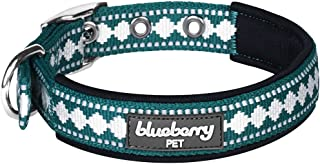 Blueberry Pet 7 Colors Soft & Safe 3M Reflective Jacquard Neoprene Padded Dog Collars, Harnesses or Leashes