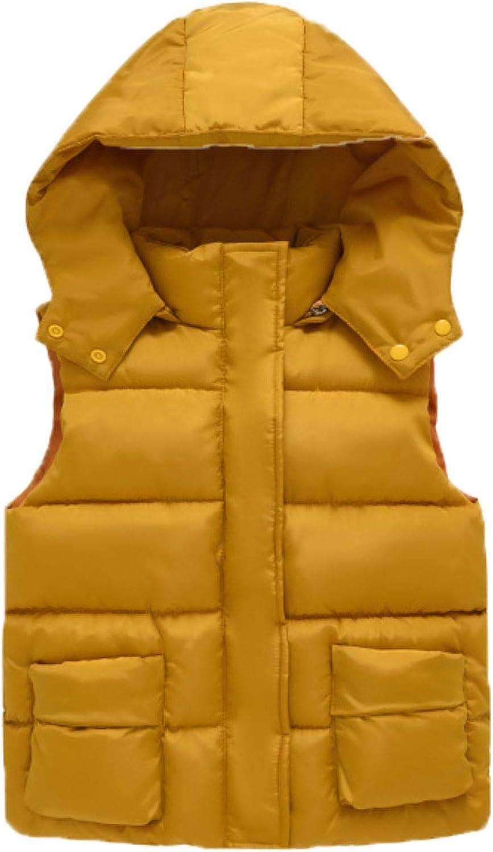 Girls Cotton Vest Autumn Kids Boys Sleeveless Jacket Child Baby Girls Coat ,yellow,6T