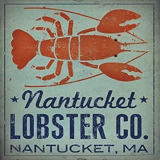 Buyartforless Nantucket Lobster Company Nantucket MA by Ryan Fowler 12x12 Signs Fish Seaside Seafood Animals Art Print Poster Vintage Advertising Cape Cod