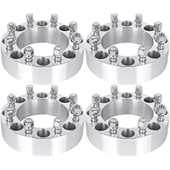 ECCPP 8x6.5 Wheel Spacers 2 4X 8x6.5 8x165.1 Wheel Spacers 8 Lug Adapters Compatible with Ram 2500 Ram 3500 W250 W300 9//16 Studs