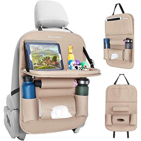 Tsumbay Auto Rückenlehnenschutz 1 Stück Wasserdicht Autositz Organizer Mit Vielen Sack Tablet Telefon Aufbewahrung Multifunktionale Auto Aufbewahrungstasche Für Auto Ordentlich Baby