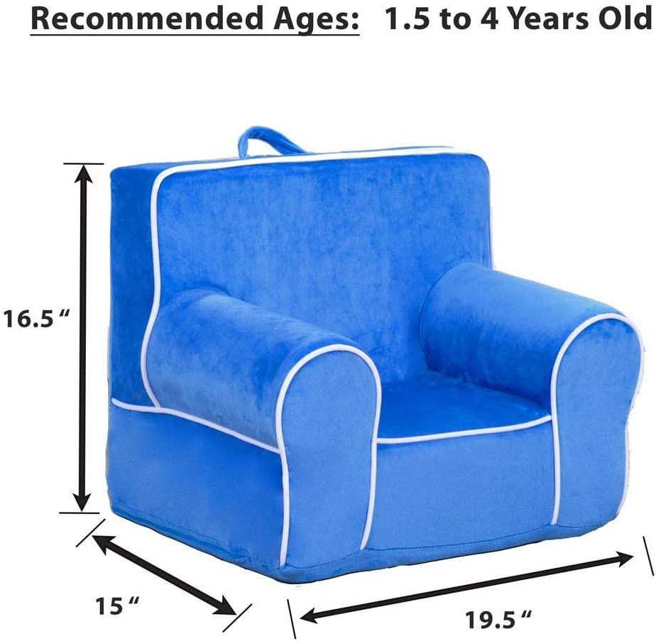 Unpersonalized Blue with White Piping Ages 1.5 to 4 Years Old DIBSIES Personalized My Anytime Chair for Toddlers