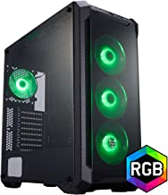 FSP E-ATX Mid Tower PC Gaming Case with 2 Tempered Glass Panels, 4 RGB Fans, and Asus Aura Sync support(CMT520)