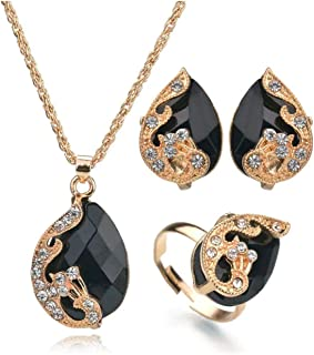 Women's Accessories Set (4 pcs) - Inlaid with rhinestone, with attractive design