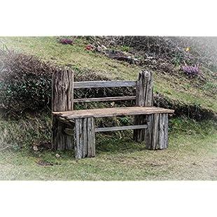 Driftwood Garden Bench, Drift Wood garden seat, Drift Wood Garden Bench, Ship Timbers Wood Garden furniture,3 Seater Garden Bench:Firmwarerom