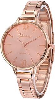 ETbotu Women Stylish Quartz Watch with Thin Stainless Steel Watchband Roman Numeral Wristwatch Ornament