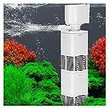 lifebea Filtro Profesional Acuario 4- EN 1 Tanque de Peces Filtro Incorporado Filtro silencioso Equipo de filtración de Agua Silenciable Air Oxygen Bomba Aquarium Filter Wave Bomba de Onda