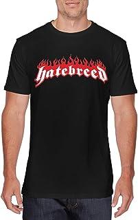 SOTTK Camisetas y Tops Hombre Polos y Camisas, Mens Classic Hatebreed Logo tee Black