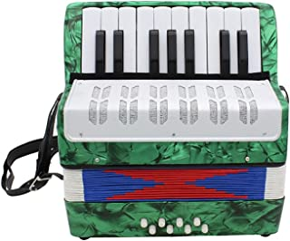 Accordion,Mini Accordion,Small 17-Key 8 Bass Educational Musical Instrument Toy for Kids..