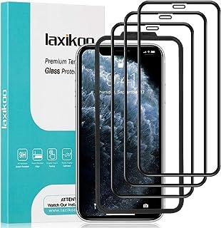 laxikoo 3 Pezzi Full Screen Vetro Temperato per iPhone 11 PRO Max/XS Max, Pellicola Vetro con Cornice di Allineamento [Sen...