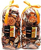 Qingbei Rina Gifts Orange Color Potpourri of 2 Bags Scented Dried Flower Perfume Sachet with 5ml Essential Oil (Fragrance BT423922) Decorative Filler for 83 Fluid-Oz Bowl and Vase