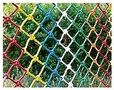 QINLMITE Red de la Cuerda de Nylon de Color Tejido a Mano, Neto de la Escalera de Seguridad para niños, Techo de Pared Adornos Decorativos de Colgando de la Red de jardín (tamaño : 1 * 7m)