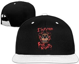 Five-Nights-at-Freddy Fashionable Trendy Hat Baseball Cap White