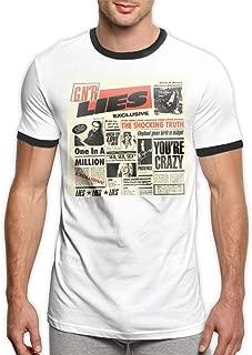 Minnie G Craig Guns N' Roses G N' R Lies Men's Outdoor Summer Short-Sleeved T-Shirt