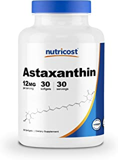 Nutricost Astaxanthin 12mg, 30 Softgels
