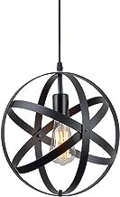 ZZ Joakoah Vintage Industrial Spherical Pendant Light, Metal Globe Ceiling Light Displays Changeable Hanging Light Fixture for Kitchen Island Dining Table Bedroom Hallway.