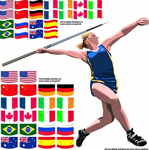 Amscan International BIGIEMME S.R.L. - Les Athletes ET Les Drapeaux du Monde Scenario