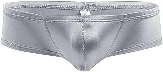 Mens Smooth Mini Boxer Briefs Underwear Swimwear Metallic Bulge Pouch Low Rise Micro Bikini Briefs Trunks