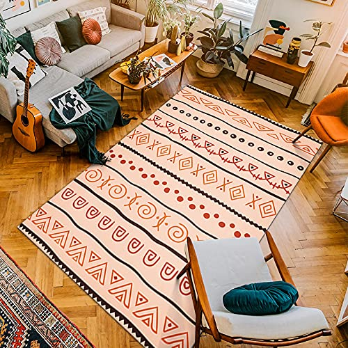 Gpink Nordic Mexican Style Carpets Polyester Floor Mats Home Bedroom Coffee Table Floor Mats Washable Durable Suitable For Hotels