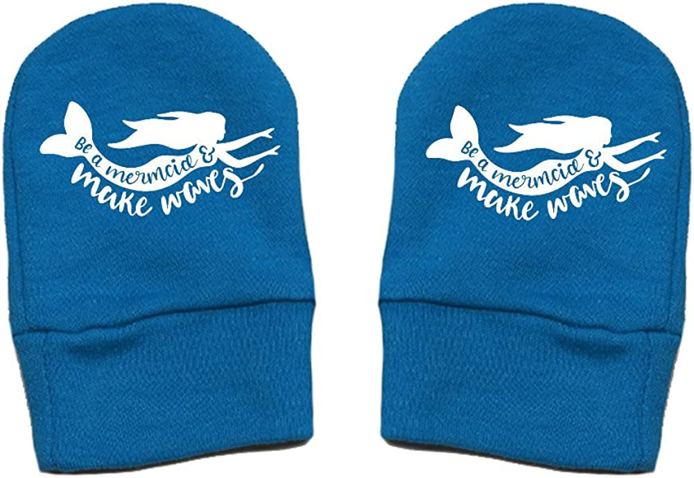 Be A Mermaid and Make Waves Mashed Clothing Unisex-Baby Fun /& Trendy Thick /& Soft Baby Mittens Thick Premium