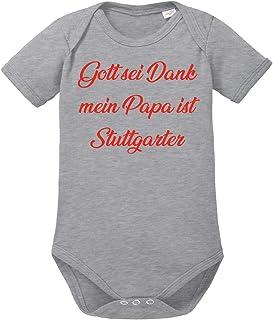 clothinx Gott sei Dank,Mein Papa ist Stuttgarter, Lustiges Fussballmotiv Baby Body Bio