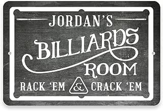 Pattern Pop Personalized Chalkboard Billiards Room Metal Room Sign