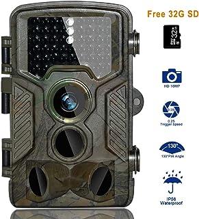 BestoU Cámara de Caza 16MP 1080P HD Trail Cámara con Visión Nocturna Impermeable IP56 con PIR