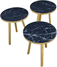 Gold Leg Coffee and Tea Table Set (black marble)