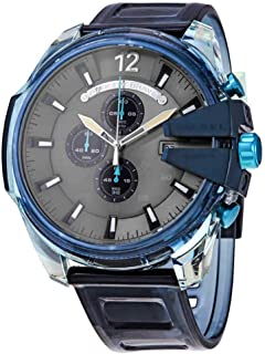 ساعة ميجا تشيف كرونوغراف للرجال من ديزل، اون ازرق - DZ4487