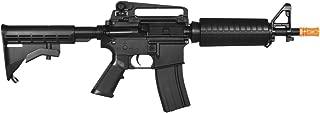 lancer tactical lt-01bl electric airsoft gun fps-400 m4 commando full & semi auto v2 full metal gearbox(Airsoft Gun)