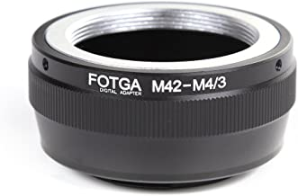 FocusFoto FOTGA Adapter Ring for M42 42mm Screw Mount Lens to Olympus Pen and Panasonic Lumix Micro Four Thirds (MFT, M4/3) Mount Mirrorless Camera Body