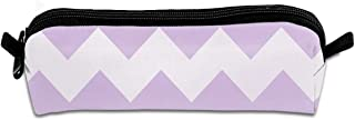 Pencil Case Lavender Purple Chevron Fabulous Travel Pouch Zippered Cosmetic Bags Case for Girls