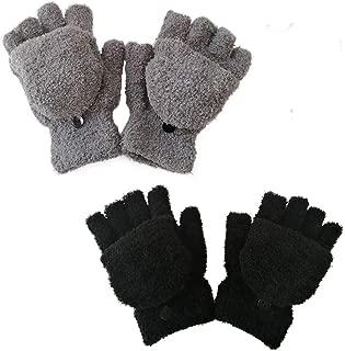 Kids Winter Gloves Easy-On Sherpa Lined Fleece Mittens for Winter Warm Gloves (5~12Y)