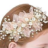 Bocianelli Girls Flower Wreath Headpieces Headband Handmade Adjustable Halo Floral Crown H...