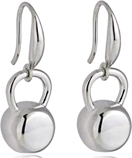 Unique Fitness Inspirational Kettlebell Dangle Earrings for Women Stainless Steel Black/Silver/Gold-Color Cross Fit Gym Earrings Gift